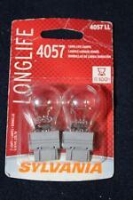 2 Sylvania 4057 LL Long Life Bulb Lamp Back Up Brake OEM Tail Light Replacement