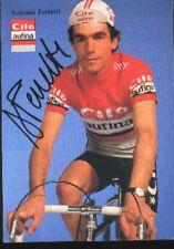 ANTONIO FERRETTI Signée CILO AUFINA cyclisme Autograph cycling tour suisse