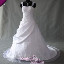 ♥ vestido de novia, vestido de bodas tamaño 34 hasta 54 en blanco + nuevo + inmediatamente +top+w040 ♥