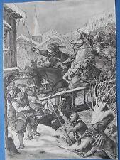 Battaglia di Tuttlingen 1643 Fritz Ernst Roeber Elberfeld Jean de Werth inchiostro di china