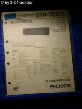 Sony Service Manual STR DE425 FM/AM Receiver (#5264)