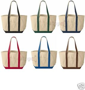 Liberty Bags 16 Ounce Cotton Canvas Tote Bag 8871 Beach or Gym Bag