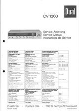 Dual Service Manual für CV 1260.