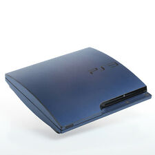 Brushed blue PS3 slim Textured Skins -Full Body Wrap- decal sticker cover