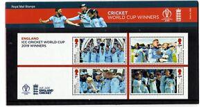 2019 GB ICC World Cup England Winners Mini Sheets Presentation Pack 19.09.19