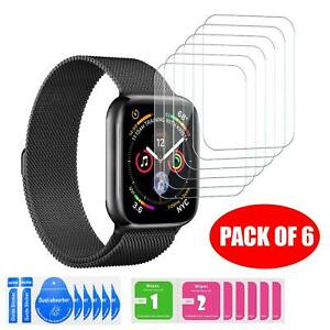 Full Cover Tempered Glass Screen Protector For Apple Watch 4/3/2/1 36mm Pack 6