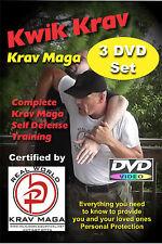 """KRAV MAGA 6 DVD Set"" Kwik Krav-Power Punches-Krav Conditioning- & Workout Video"