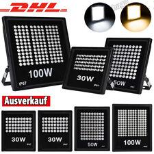 30W 50W 100W LED Fluter Strahler Scheinwerfer Flutlicht Außen IP67 Wasserdicht