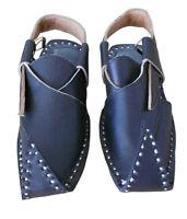 Men Sandals Indian Handmade Flip Flops Leather Jutties Black Flats UK 7.5 EU 41
