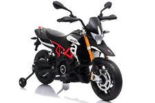 Moto elettrica per bambini APRILIA DORSODURO 900 12V motocicletta ROSSA EVA