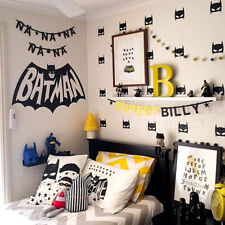 Hero Batman Mask Removable Wall Stickers for Kids Children Vinyl Decal 40Pcs