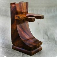 Pure Rose Wood Made Men's Shaving Brush & Razor Stand. Perfect For All Type