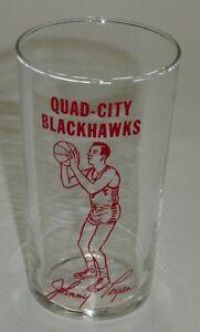 Tri City Blackhawks Glass NBA 1950 Johnny Logan