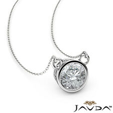 1/4 ctw. Solitaire Round Brilliant Cut Natural Diamond Filigree Pendant Necklace