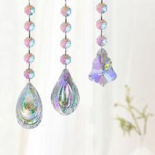 Set3 Rainbow Crystal Xmas Tree Prism Window Suncatchers Chandelier Lamp Pendants