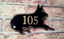 German Shepherd Alsatian Dog Personalised House Sign Custom Home Door Number