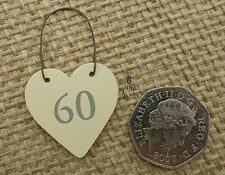 East of India Tiny Miniature Wooden Heart Messages Gift Tags Signs Keepsakes 60