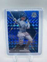 2020 Panini Chronicles Aaron Judge Mosaic Blue Wave Prizm /99 NY Yankees HOF PSA