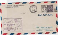 special airmail flight toronto to ottawa 1928 stamps cover ref 13166