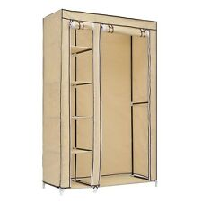 "69"" Large Wardrobe Garment Hanger Closet Organizer Storage Rack w/ Shelves SH"