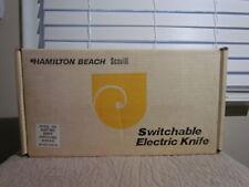 Vintage 1970s Hamilton Beach Scovill Electric Knife Model 293 Almond Euc in Box