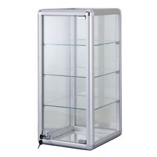 3 Shelf Aluminum Frame Glass Countertop Showcase, 87217