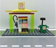 LEGO CUSTOM SHELL GAS STATION. ATM & MORE. READY TO PLAY