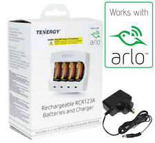 Netgear ARLO Camera Official Charger & (4x) Rechargeable Battery Kit by Tenergy