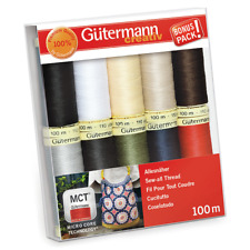 Gutermann 'Basic Colours' 100m Sew-All Thread Set Pack of 10 [7340061]