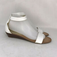 Tommy Hilfiger Womens Molina 2 White Low Wedge Ankle Strap Sandals Size 8.5 M