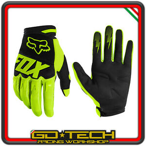 GUANTI FOX DIRTPAW 2020 Giallo Fluo MOTO CROSS ENDURO MOTARD ATV BICI MTB BMX