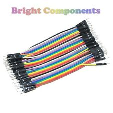 40pcs Dupont Jumper Ribbon Cable : 10cm : Male-Male : UK : 1st CLASS POST