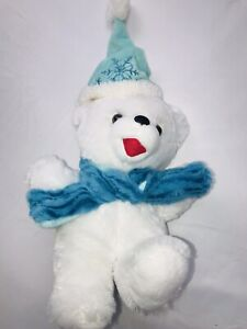 "DanDee Collectors Choice 2017  Snowflake Teddy Bear Plush 13"" Rare"