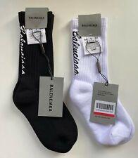 BALENCIAGA Tennis Socken mit Logo-Print weiss schwarz WOW SALE ANGEBOT