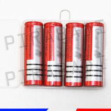 4 PILES ACCUS RECHARGEABLE 18650 3.7V 6800mAh Li-ion + BOITE DE RANGEMENT OFFERT
