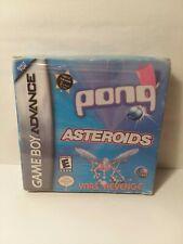 Gameboy Advance Pong Asteroids Yars Revenge New Sealed