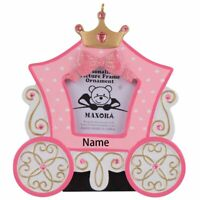 Personalized Princess Carriage Photo Frame Christmas Ornament  Birthday Gift