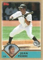 2003 Topps Traded Gold Parallel Baseball Cards Pick From List