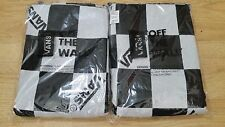 VANS OFF THE WALL SHOES CHECKERED BLACK WHITE FRINGE BLANKET THROW RARE PROMO