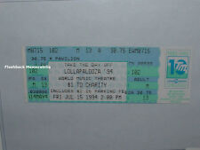 LOLLAPALOOZA 1994 Unused Ticket GREEN DAY Smashing Pumpkins BEASTIE BOYS Chicago