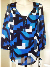 Blouse 3/4 Sleeve Party V Neck Tops & Shirts for Women