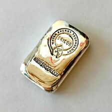 50g SILVER hand poured bar 999+ Bricor Analytical bar 50 grams.