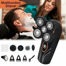 5 in 1 Grooming Kit For Men Cordless 4D Electric Head Shaver with Sideburns