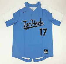 Nike Men's L North Carolina Tar Heels Vapor Elite Baseball Jersey Blue 818546
