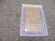 """Microscale  decals HO 87-202-5 Extended Roman alphabet SP 6"""" 15"""" red A93"""