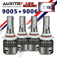 AUXITO 4X 9005 9006 HB3 HB4 LED Headlight High Low Beam Kit 6000K White Bulb