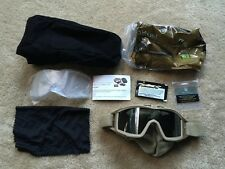 NEW IN BAG REVISION DESERT Tan Locust goggle System WITH 2 LENSES