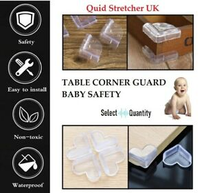 Baby proof Safety Glass Desk Table Edge Corner Cushion Guard Protector Bumper UK
