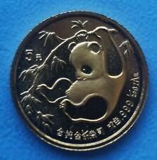 1/20 oz 5 Yuan Panda 1985 aus China / Münze mit 999 Gold 1/20 Unze