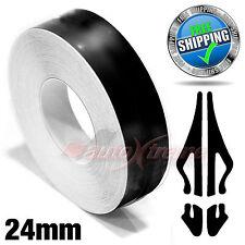 "BLACK 24mm 1"" x 9.8m Pin Stripe PinStriping SINGLE Line Tape Vinyl Car STICKER"